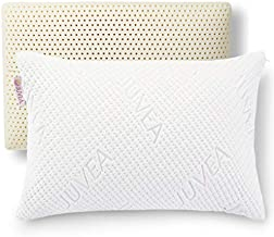 JUVEA – 100% Natural Talalay Latex Pillow – Firm Queen Low Loft Pillow with Cooling Technology – Removable Machine Washable Tencel Cover – Oeko-TEX Class 1