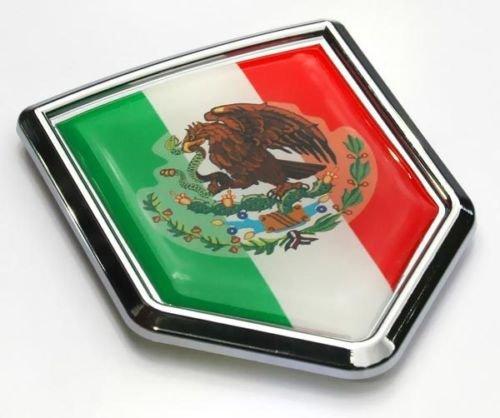 Car Chrome Decals Mexico Flag Mexican Emblem Chrome Car 3D Decal Sticker CBSHD134