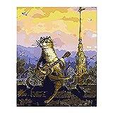 clockfc Pintar por números DIY Adecuado para Principiantes Adultos niños Set Color Caballo Pareja Animal Lienzo decoración de la Boda Art & nbsp;40x50cm (con Marco)