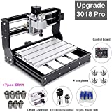 CNC 3018 Pro GRBL Control DIY Mini CNC Machine with Offline Controller, 3 Axis PCB Milling Machine, Wood Router Engraver, with ER11 and 5mm Extension Rod