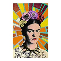 C&D Visionary Frida Kahlo Mosaic Rays Sticker, Multi-Colored