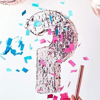 Ginger Ray Rose Gold Foiled Gender Reveal Baby Shower Pinata Girl or Boy