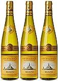 HUNAWIHR PRESTIGE Alsace Riesling Vin Blanc Sec AOC 2017 75 cl - Lot de 3