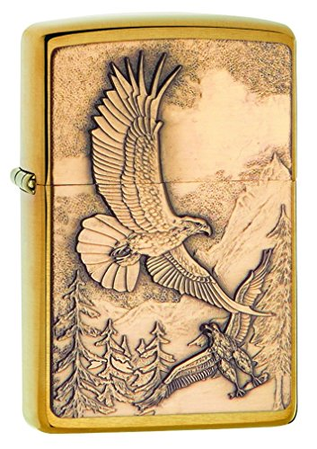 Zippo 60000860 Where Eagles Dare, Laiton Brossé, 3,5x1x5,5 cm