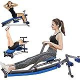 HUHU Multifunctional Rowing Machine - Foldable Hydraulic Rowing Machines - Sit Up Bench Push Ups Fitness Equipment...