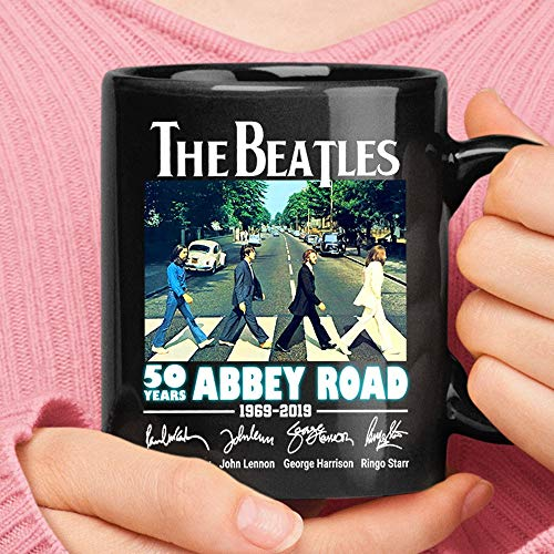 T_h_e_b_e_a_t_l_e_s 50 Years Abbey Road Signatures Mug Camping Travel Ceramic Mug Water Bottle