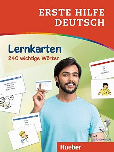 Erste Hilfe Deutsch – Lernkarten: 240 wichtige Wörter / Lernkarten mit kostenlosem MP3 Download