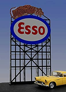 6072 Small Model Esso Animated Lighted Roadside Sign by Miller Signs