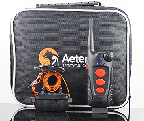 Aetertek 600 Yard Remote Dog Trainer with Waterproof Rechargeable Dog Training Shock Collar Trainer with AUTO Anti-BARK (AT-918C-1 Dog Set)