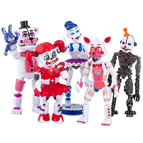 Interactive Five Nights at Freddys - Multi FNAF Action Figures Set of 5 PCS - Sister Location Toys - All Kids Funny Toys - Toy Gifts - Cake Toppers - 6 inches
