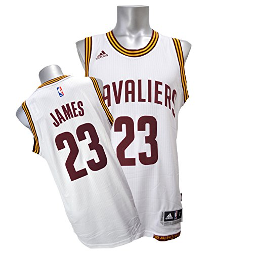 adidas Lebron James Men's White Cleveland Cavaliers Swingman Jersey XX-Large