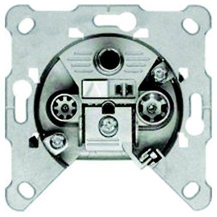 GIRA Serie Standard 55 - reinweiß glänzend (FS302F) SAT-Einzeldose 3-fach
