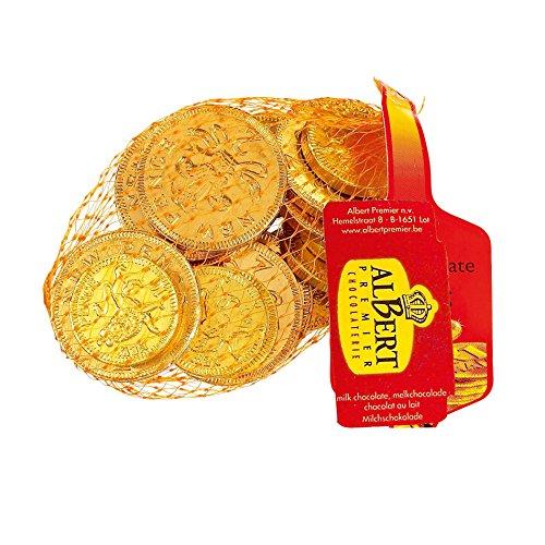 Monedas británicas laminadas en oro con chocolate con leche – Bolsa de 75 g