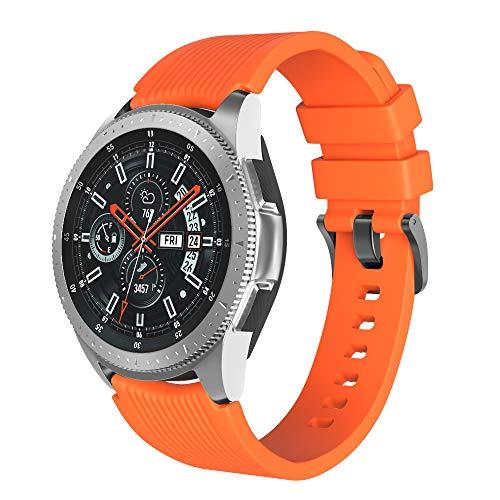 Shieranlee 22mm Band Compatibel met Samsung Galaxy 46mm/Gear S3 Frontier/S3 Classic/Huawei Watch GT/GT 2 Smartwatch - Zachte siliconen polsband Verstelbare Vervangende Sport Bands
