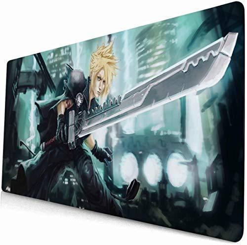 Final Fantasy Mouse pad Gaming Keyboard pad grande mesa pad ordenador Anime Game pad 4 (90 cm × 40 cm)
