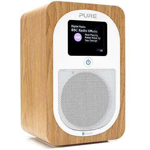 Pure Radio Evoke H3 (DAB+, DAB, FM, Bluetooth, Sleep Timer, Alarma, Timer, 30 horas de duración de la batería) Oak