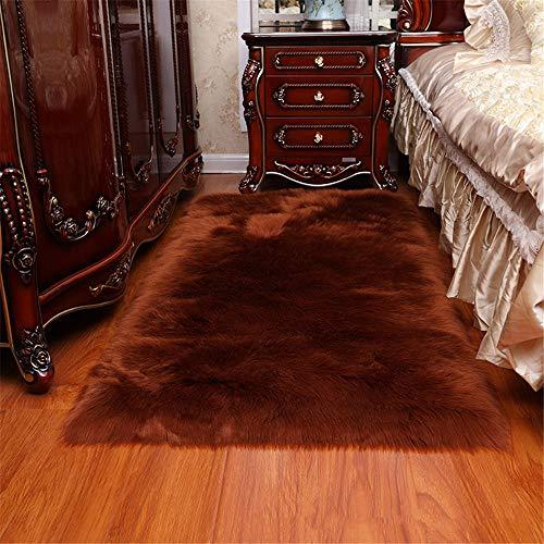 RUGMYW Preisgünstige Teppich Flur Braun Plus Plüsch küchenteppich Hochflor Teppich 50X80cm