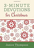 3-Minute Devotions for Christmas: Inspiring Devotions and Prayers 1634092007 Book Cover