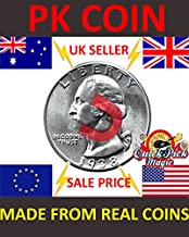 Strong Magnetic US Quarter Dollar Magic Trick Coin / 25 Cent Magnetic PK Coin Magic Trick