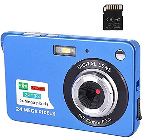 Digital Camera,48 Mega pixels 2.4 Inch HD Camera for Backpacking Rechargeable Mini Camera Students Cameras Pocket Cameras Digital with Zoom Compact Cameras for Photography(32GB SD Card Included)