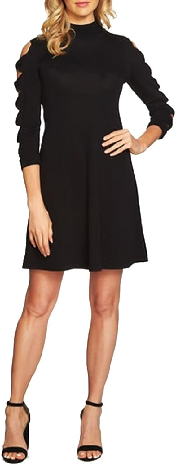 CeCe Cotton BowSleeve Sweater Dress