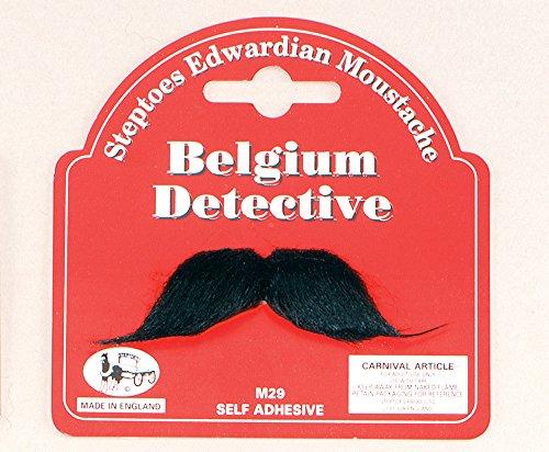 Belgium Detective Moustache Moustache for Victorian Edwardian Poirot Fancy Dress Moustache