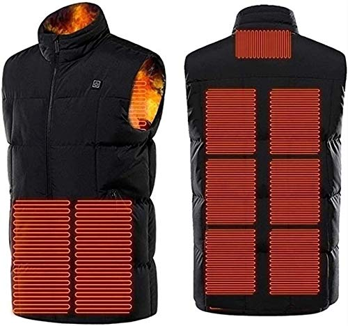MNSSRN Loading USB Electrical Heating Jacket Adjustable, Winter Washable Hot Clothing Jacket Heated Electric with 9 Heating Zones (Without Battery)