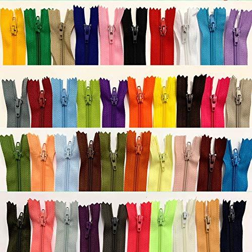 WKXFJJWZC - 50 cerniere in nylon per lavori di cucito (40 colori) (50,8 cm), 50,8 cm (50,8 cm)