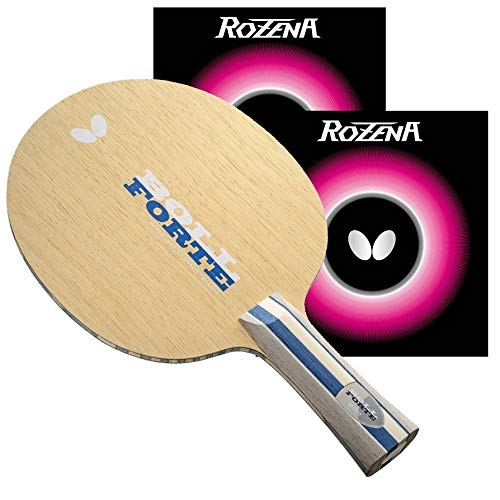 Fantastic Deal! Butterfly Boll Forte Blade & Rozena Rubber Shakehand Table Tennis Racket | Pro-Line ...