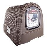 CURVER | Maison de toilette pour chat, Moka, Pet rattan, 51,5x38,5x40 cm