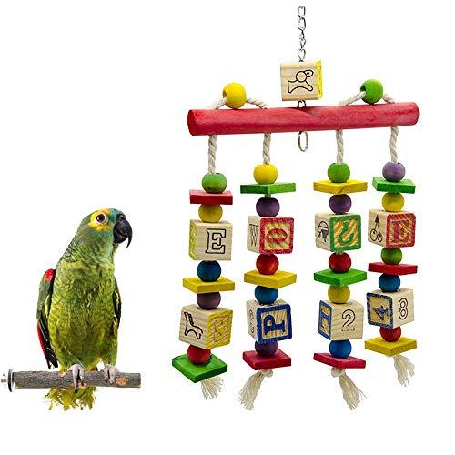 SDFFA Juguetes para Pájaros,Juguete de Loro,Juguetes para Masticar Pájaros,Columpios para Loros, para Loros Pequeños, Periquitos,Cacatúas, Pinzones, Guacamayos, Pájaros del Amor