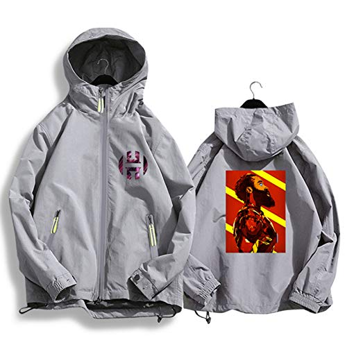 Harden 13 Rockets - Chaqueta de baloncesto con capucha para hombre y mujer, estilo casual, chaqueta de punto gris