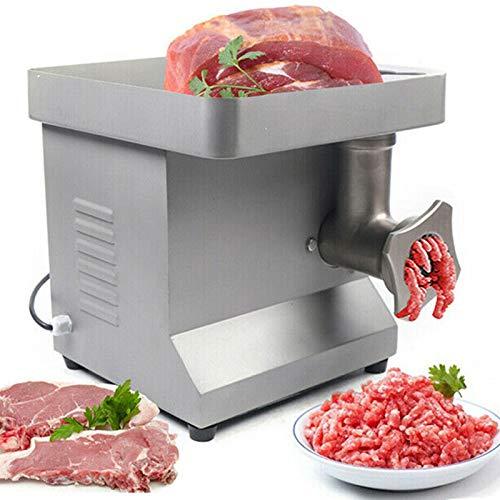 Wangkangyi 850W Elektrischer Fleischwolf, 250kg/h Edelstahl Profi Ladenfleischwolf, Wurstaufsatz Metallgetriebe