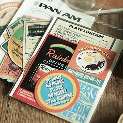 BLOUR 1set / Lot Kawaii Briefpapier Aufkleber Gitter Picknick Stoff Tagebuch Dekorative Mobile Aufkleber Scrapbooking DIY Craft Aufkleber