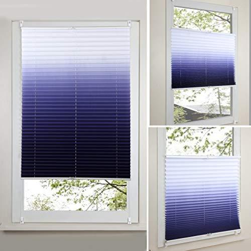 Eastery 2 Jahre Garantie Rollo (Breite Und Höhe) 60 X 130Cm Einfacher Stil Für Fenster Tür Mit Klemmträgern Allmähliche Verfärbung Plissee Vorhänge Verdunklungsrollo Klemmträger Fensterrollo