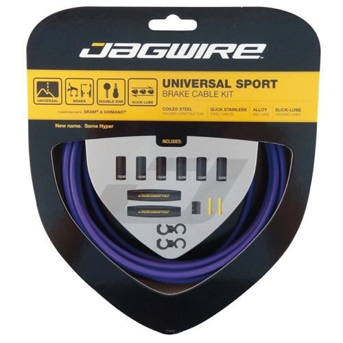 Jagwire - Universal Sport DIY Brake Cable Kit   for Road and MTN Bike   SRAM and Shimano Compatible   Purple