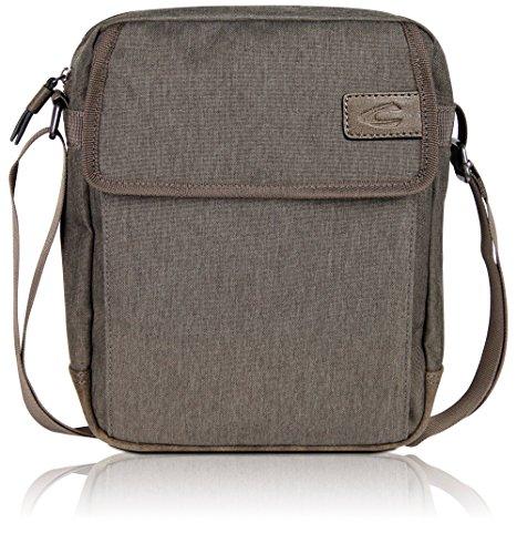 Camel Active Kleine Umhängetasche für Damen und Herren, Schultertasche Messenger Bag Kuriertasche, Beige