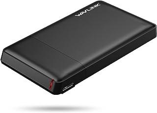 """Wavlink 2.5インチUSB 3.0 HDDケース ハードドライブディスクHDD外部エンクロージャケース9.5mm 7mm 2.5""""SATA HDDおよびSSDに対応、 USB 3.0ケーブル付き"""