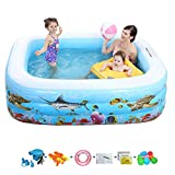 YUANZHU Swim Center Aquarium Inflatable Pool, Family Ground Pool Children's Lounge con una válvula de Aire Independiente y Fondo de Burbujas Suaves