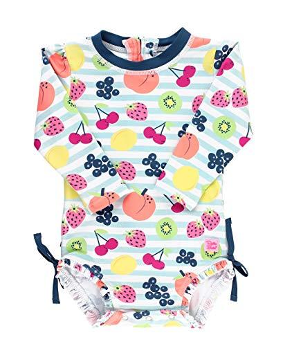 RuffleButts Baby Toddler Girls Fruit Fiesta One Piece Rash Guard - 3-6m