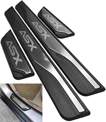 NTUOO 4Pcs Coche Acero Inoxidable Barra Umbral, para Mitsubishi ASX 2011-2020 Puerta...