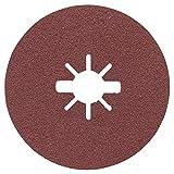 Bosch Professional Expert - Discos de lija de fibra (para metales, X-LOCK, R444, Ø125 mm, grano 80, diámetro del orificio: 22,23 mm)