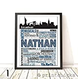 Broadway Typography Personalized Print - PrintChicks Actor Art Decor Poster