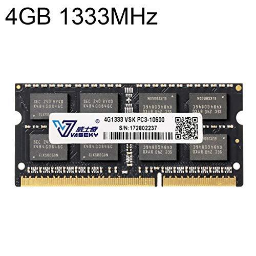 Sevenplusone Licht en mooi, gemakkelijk te dragen. 4 GB 1333 MHz PC3-10600 DDR3 PC geheugen RAM-module voor laptop, een verscheidenheid aan testsessies, strikte controle