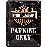 Harley-Davidson - Señal de aparcamiento lata solamente, 15 x 20 cm