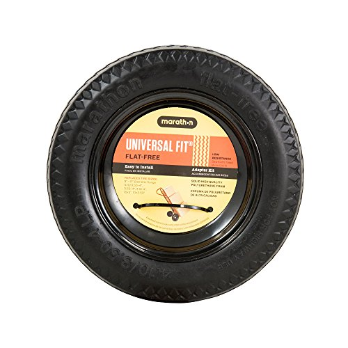 Marathon 00210 Universal Fit, Flat Free, Hand Truck All Purpose Utility Tire, 4.10/3.50-4