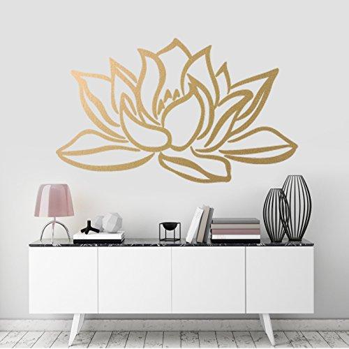 Lotusblume Wandkunst-Aufkleber, Zimmerdekoration Natur, abnehmbares Vinyl-Abziehbild