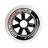 Rollerblade Hydrogen 84mm 85A Wheels (8 Pack), White, One Size