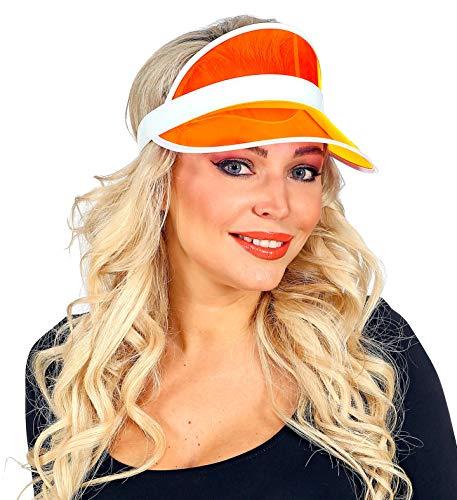 shoperama 80er Jahre Sonnenvisir Poker Beach Party Sonnen-Hut Sonnen-Kappe Kostüm-Zubehör JGA, Farbe:Orange