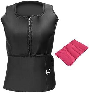 Anne & Gene Women Waist Trainer Vest Slim Neoprene Sauna Tank Top, Sauna Suit Weight Loss Body Shaper Shirt